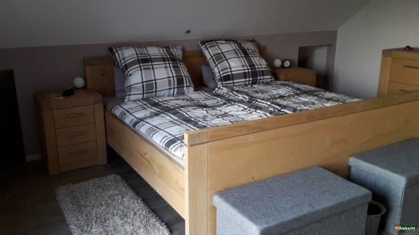 Eiken bed handgemaakt