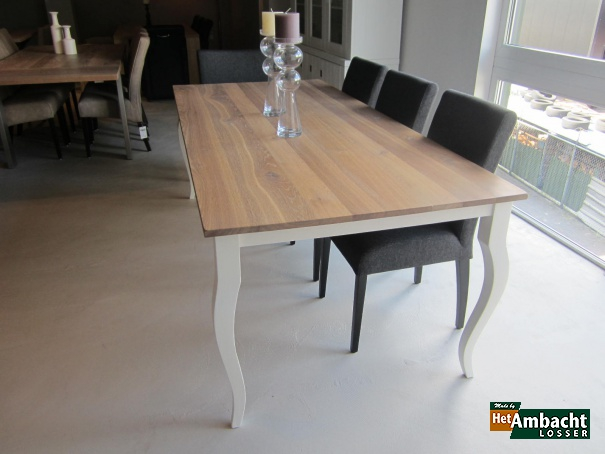 Queen Anne eettafel eiken rustiek